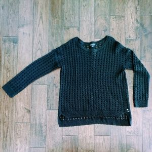 Trouve open weave sweater